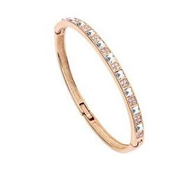 Wholesale Cuff Bracelet Swarovski - Wholesale-Cuff Bracelets 18k Gold Plated Bangles Brand Fashion Jewelry For Women Made with Swarovski Elements (6- colors)