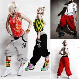 Wholesale Cut Loose L - Wholesale-Casual Baggy Pants Unisex Hip Hop Dance Trousers Pants Pant PE2742