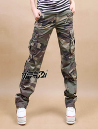 Wholesale Hunting Outwear - Wholesale-Free Shipping 5 sizes pants, camo cargo pants overalls,Camouflage casual pants hunting outwear army uniform clothing , CC0019