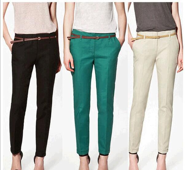 9de6856e 2019 Wholesale 2015 New Spring Summer Autumn Fashion Excellent Quality  Elegant Fashion Ladies Pencil Pants, Women Trousers With Belt From  Shinny33, ...