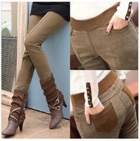 Wholesale Women S Winter Boots Sale - Wholesale-2015 Hot Sale autumn and winter women pants velvet thickening legging trousers plus size female trousers autumn boot cut jeans