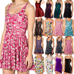 Wholesale Mad Cats - Wholesale-Summer Dress 2015 Adventure Time Cheshire Cat Print Dress Black Milk Skater Dresses Animal Print Dresses We are all mad