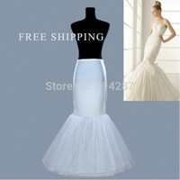 Wholesale Wedding Dressing Wholes Sale - 2015 Whole Sale In Stock Plus Size One 1 Hoop Petticoat Slip Crinoline For Mermaid Wedding Dresses Underskirt Women