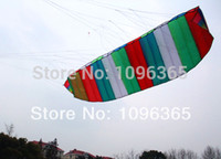Wholesale Dual Line Control Rainbow Colour Parafoil Power Kite m string Sport Power Singe Line kite