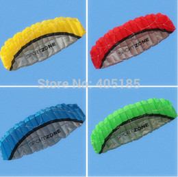 Wholesale Animal Stunts - Free Shipping High quality 2.5m Dual Line Stunt Parafoil Kite Power soft kite various colors choose