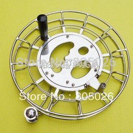 Wholesale Stainless Steel Kite Reels - free shipping high quality 32cm stainless steel Kite Handle kite Accessories, with bar,kite reel hot sell easy control