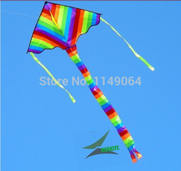 Wholesale Delta Wing - free shipping high quality 3.5m long tails rainbow delta kite ripstop nylon fabric kite weifang kite factory hcxkite windsocks