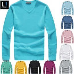 Wholesale Hot Cashmere - 2015 hot sales Brand mens sweaters Long Sleeve Cashmere men Knit shirt sweater designer Men pullover ,jumperS men clothing 426