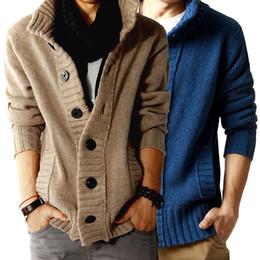 Wholesale Men S Cashmere Sweaters - Free shipping Sale 2015 men's sweater cardigan shirts cashmere sweater for Mens coat thicker winter men jackets M L XL XXL C170