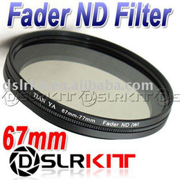 Wholesale Nd 67 - TIANYA 67mm 67 Fader Neutral Density ND Filter ND2 to ND400 ND8