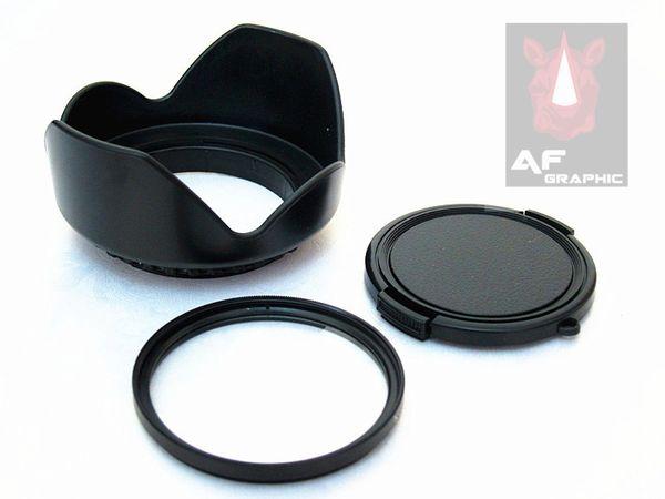 F216 Digital Camera Lenses Lens Protect UV Filter + Flower Lens Hood + Lens Cap Set fit ALL 40.5mm Filter Size NEW
