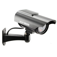 Wholesale-4 pc / dell'interno falsa Videocamera di sicurezza fittizia esterna alimentata solare con impermeabile commercio all'ingrosso di trasporto LED