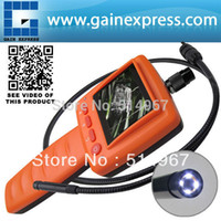Wholesale-2.4 LCD Portable Video Inspektion Endoskop 10mm Durchmesser Kamerakopf 1m Cable Snakescope