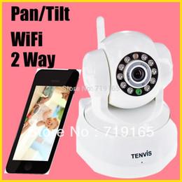 Wholesale Tenvis Wifi - Wholesale-Original Tenvis professional Indoor mini wireless wifi security CCTV IP Camera webcam baby monitor ,2-way audio, night vision..