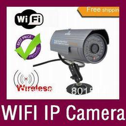 Wholesale Ip Camera Waterproof Wireless Dhl - Wholesale-Wireless Webcam WIFI IP Camera Night Vision 36 LED 20m IR Waterproof Outdoor in stock 4pcs lot free DHL