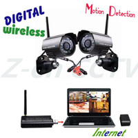 Wholesale-Schiff frei! DIY Quad 2,4 GHz Wireless USB DVR und 4 CH Wireless-CCTV-Kamera für Home Security System Selbstverteidigung Bewegungserkennung