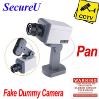 Wholesale Cheapest Outdoor Camera Surveillance - Wholesale-Free shipping cheapest emulational fake decoy dummy security surveillance CCTV outdoor use bullet waterproof camera system pan