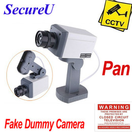 Wholesale Cheapest Bullet Cameras - Wholesale-Free shipping cheapest emulational fake decoy dummy security surveillance CCTV outdoor use bullet waterproof camera system pan