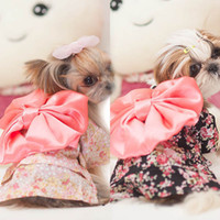 Wholesale Japanese Princess Costumes - Free Shipping Dog Clothes Puppy Floral Japanese Kimono Clothing Costume Princess Dress