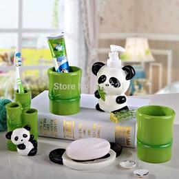 discount resin bathroom accessories sets panda resin five pieces bath set bathroom setbathroom
