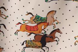Wholesale Horses Chiffon Shirt - S-XL New 2015 Fashion Ladies Elegant Chiffon Blouse Horse Animal Print Blusas Casual Long Sleeve Shirts Tops for Women 2749