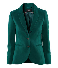 Wholesale Women S Rayon Blazers - NEW Lady Short Coat Fashion Deep Green Slim Vent Casual Suit Female Blazer Plus Size XS-XXL Size