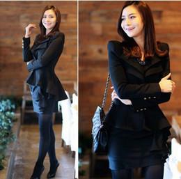 Wholesale Women S Blazer Tails - 2015 New Korean Stylish Womens Ladies Girls Suit Blazer Swallow Tail Power Shoulder Coat Jacket, Free Shipping