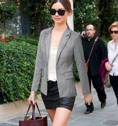 Wholesale Plaid Blazer Women - 2015 fashion casual Slim thin Houndstooth a button blazer female Long-sleeved suit collar women work wear blaiser feminino 922