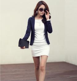 Wholesale Korean Style Ladies Blazer - New Fashion Women Blazers and Jackets Slim Casual Short Ladies Korean Style Long-Sleeve Coat Outwear Casual Short Jacket