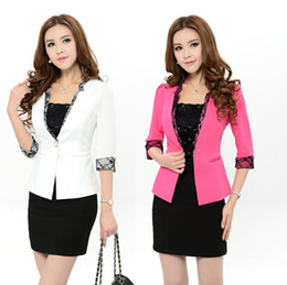 Wholesale Skirt Blazer Set - New Plus Size Professional Business Women Work Wear Suits Blazer With Skirt For Office Lady Career Suits Female Clothing Set