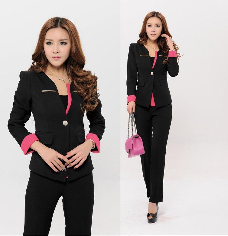 2019 Plus Size Elegant Black Formal Women Pants Suits Blazer  Amp  Pants  For OL Office Ladies Long Sleeve Professional Uniform Sets From Tt2015 be2d97163e86
