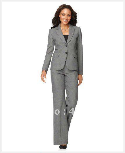2017 Popular Women Suit Long Sleeve Jacket &Amp; Trouser Leg Pants ...