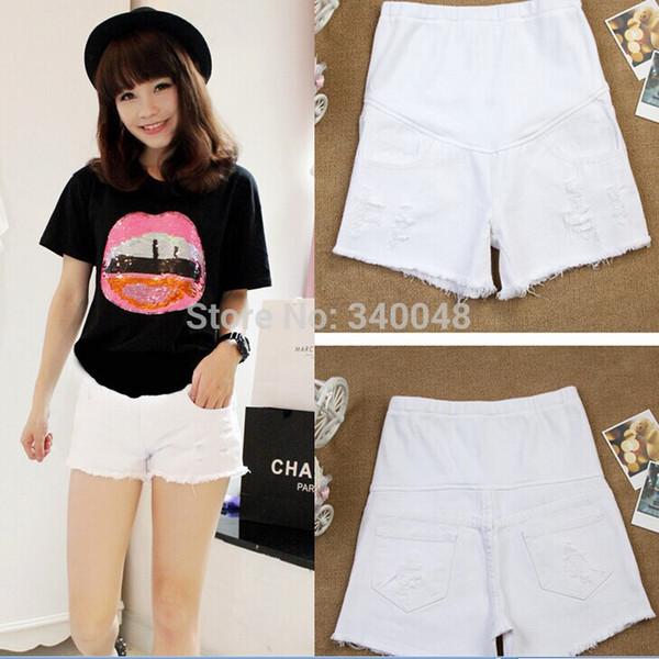 best selling 2020 summer new arrival fashion maternity jeans elastic waist belly pants pregnant women short jeans denim shorts M-XXL