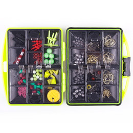 Wholesale Barbed Fishing Hooks - Assorted Fishing Fish Tackles Swivels Lures Baits JIG Head Hooks Box Case Kit #41067