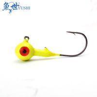 Wholesale Bulk Fish Hooks - 10pcs Fish single lead head hook bulk 2g 3g 4g 5g 10g hook lure hook soft bait