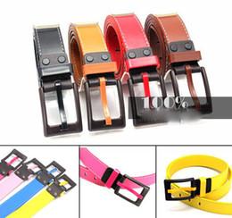 cinturon de hombre de plastico Rebajas Diez cinturones de color hebilla de plástico hombres mujeres neutro hipoalergénico metal faja niño y niña cinturón de cintura
