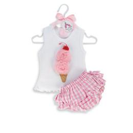 Wholesale Casual Check Shirt Girl - Kids Girls Ice Cream Tops Shirts+Plaids Checks PP Pants Set Tutu Dress Outfits FreeShipping
