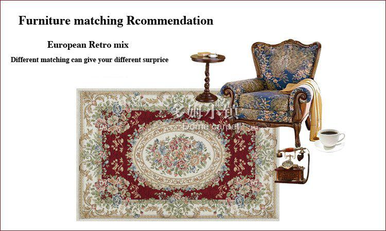 Luxury Rugs Chenille Carpet Burgundy European Country Style Area Rugs Chic  Floral Carpets For Living Room 160x230cm FreeShipping