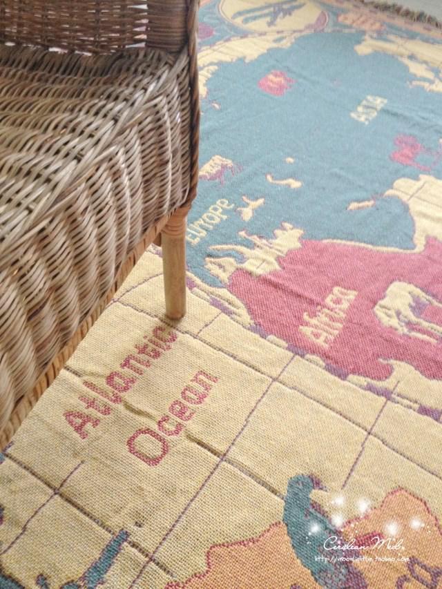 Cm Vintage World Map American Cotton Blanket Living Room - Old world map rug