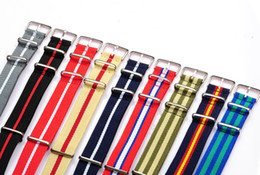 Wholesale Nato Straps - 2015 Hot 5pc lot 20MM nylon watchbands Nato strap waterproof Watches Accessories, wrist watch band many color for option