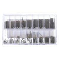 Wholesale Cotter Pins Wholesale - Hot Sale 360pcs 18 Size 6mm-23mm Stainless Steel Assortment Watch Band Link Cotter Pins Repair Tool Sets