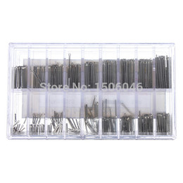 Wholesale Steel Band Tools - Hot Sale 360pcs 18 Size 6mm-23mm Stainless Steel Assortment Watch Band Link Cotter Pins Repair Tool Sets