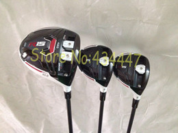 Wholesale Golf Wood Head Covers - golf clubs New R15 driver + R15 fairway wood 3# 5# speeder graphite shaft right hand 3pcs set include head cover