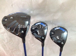 Wholesale Golf Clubs Driver Heads - G 30 Wood Set G 30 Golf Woods OEM Golf Clubs Driver + Fairways Regular Stiff Flex Graphite Shaft Come With Head Cover & Wrench