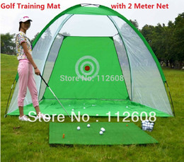 Wholesale golf training aids - Golf Training Cages practice net Training Aid with Free 30*60cm Golf Chipping Driving Practice Mat
