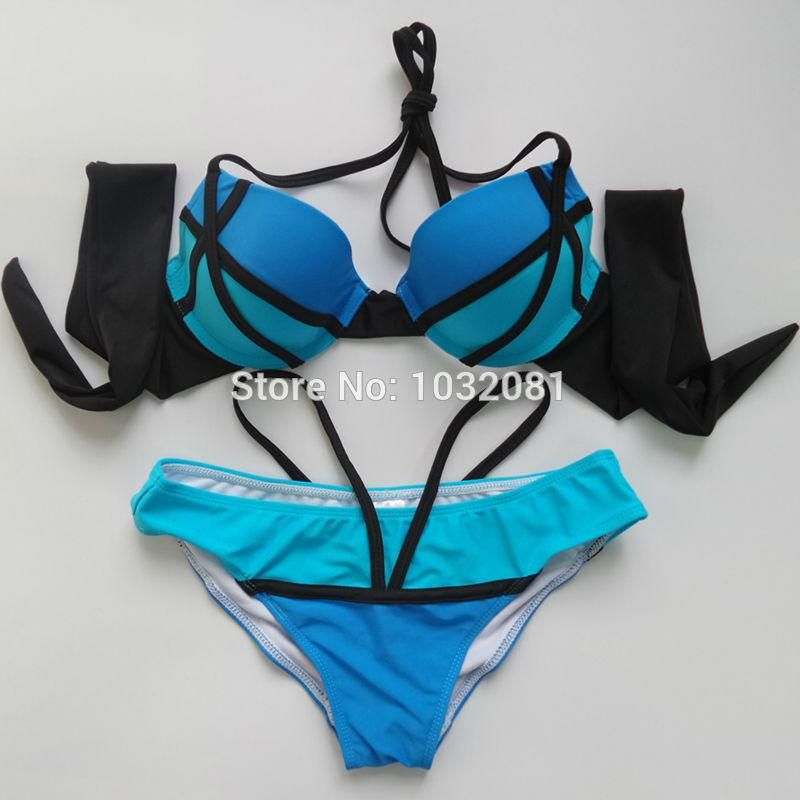 79554666d3dea 2019 Blue Pink Orange Sexy Super Push Up Bikini Sexy Bra Bathing Suit  Swimsuit With Cup Swimwear Women Biquini Maillot De Bain V79 From Pamele,  ...
