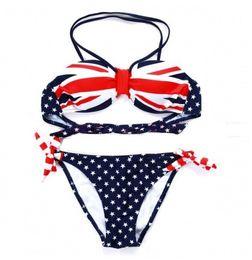 bandeira impressão uk Desconto 2015 nova bandeira do REINO UNIDO tubo parte superior do biquíni swimwear parte do vintage swimsuit mulheres impressão bikinis set maiô praia biquíni inferior