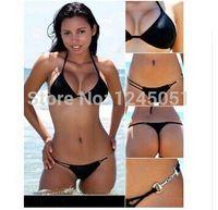 Wholesale Good Bikini Thongs - 2015 New cheap Swimwears Fashion Women Bikinis set Good Quality sexy Fling thong bikini Swimsuit Bathing Suit Swimsuits 3 color