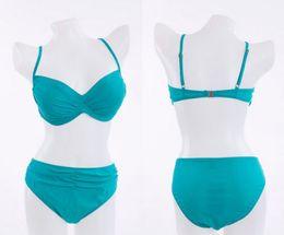 Wholesale Black Bandeau Bikini Top - Black PLUS SIZE Womens Bikini Set Bandeau Push Up Top & Bottom Swimsuit Swimwear