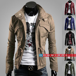 Free Shipping New Slim Sexy Top Designed Mens Jacket Coat Colour:Black,Army green,Gray A73